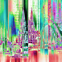 Köln Skyline Collage by annette nettesart