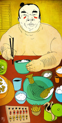 A Sumo's Feast by Michael Hirshon