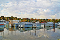 Boat Houses, Red Wing, MN by J Nathaniel Dicke