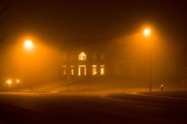 Night fog under the street lights by Irina Moskalev