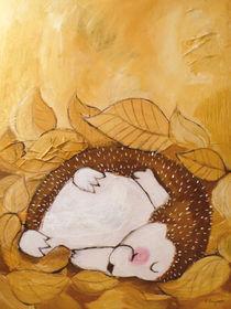 Igel Hans schläft by Evi Gasser