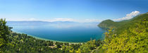 Ohrid lake panorama by Plamen Petkov