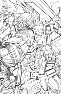 ultra magnus vs. snaptrap by william allan  reyes