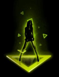 Cosmic Lime Girl by Bartosz Piotrowski