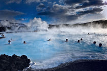 Blue Lagoon hot water springs Iceland von Erik Schimmel
