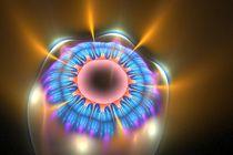 Wax Fractal Eye Flower by Branden Thompson