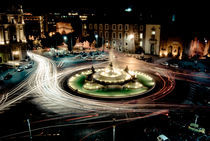 Piazza Esedra by night by Andrea Di Lorenzo