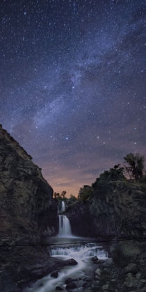 White River Falls at Night by Ben  Canales