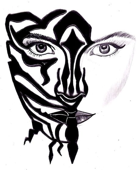 """Zebra Face"" Drawing art prints and posters by laura seed ..."