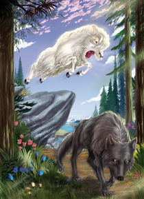 Sheep and Wolf by Douglas Ferreira