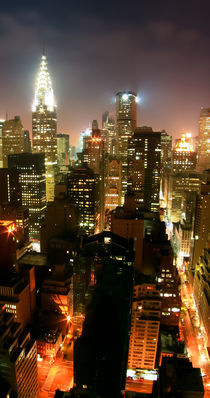 New York Art Print - SKYLINE 1of3 von temponaut