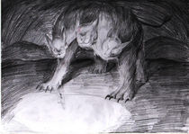 painting sketch1 - cerberus by Paola Castillo