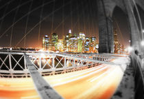 New York - Brooklyn Bridge Art Print von temponaut