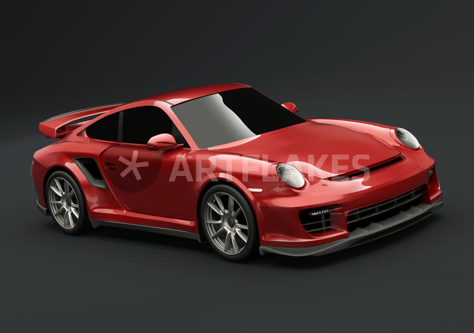 red porsche carrera gt2 digital art als poster und kunstdruck von. Black Bedroom Furniture Sets. Home Design Ideas