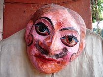Mask in a market in India by Andras Nagymihaly