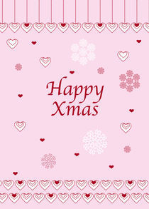 Happy Xmas Hearts and Snowflakes von Caroline Allen