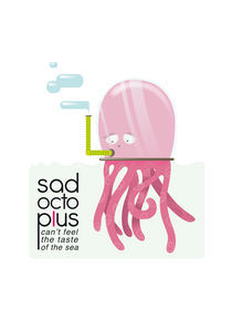 Sad OctopLus 2 von Francesca Blè