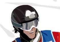 Snowboard Smile by Francesca Blè