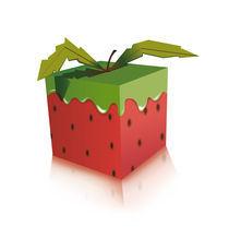 The strawberry square by Francesca Blè