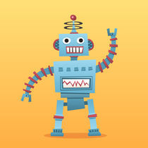 Little retro robot by mhea