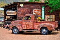 Hackberry General Store - Red Truck by Luis Henrique de Moraes Boucault