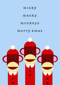 monkey christmas by thomasdesign