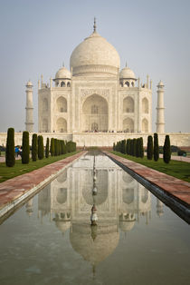 Front View of the Taj Mahal with Reflection von Russell Bevan Photography