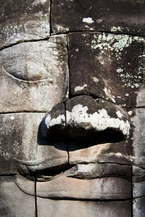 A Large Stone Face at The Bayon von Russell Bevan Photography
