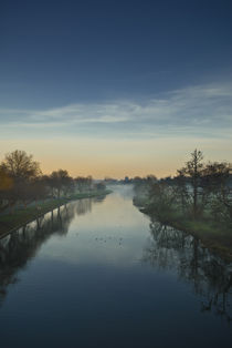 Sunset Over The River Avon by Russell Bevan Photography