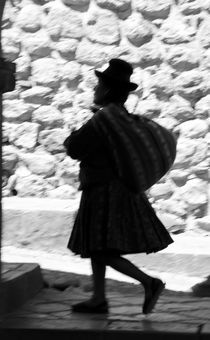 Quechua Woman Walking Past von Russell Bevan Photography