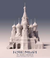Kremlin. St. Basil Church in 3D by Juan Alvarez de Lara