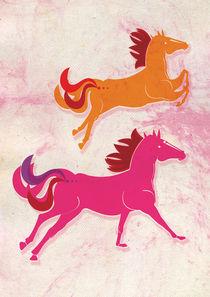 Wild Pink Horses von gabriela castro