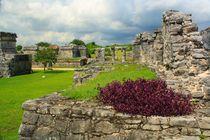 Mayastätte Tulum direkt an der Riviera Maya, Yucatan Mexiko  von Marita Zacharias
