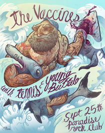 The Vaccines Poster by Logan Faerber