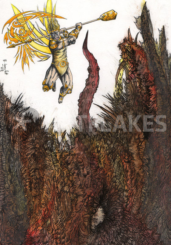 quotmichael vs luciferquot painting art prints and posters by