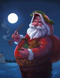 Santa Claus Christmas Greeting card by Juan Alvarez de Lara