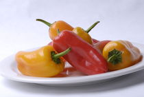 Plate of Peppers by Tom Warner