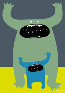 Father and baby monsters von Paul Robson