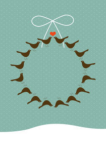 christmas bird wreath by thomasdesign