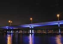 Miami, Mc Arthur Bridge at Night by Juan Carlos  Medina Gedler