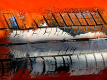 Minimal Art ... Autoreifen im Hafen von Almut Rother