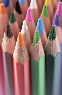 Tips of Colored Pencils Photograph by Neil Overy