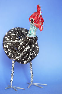 African Beaded Wire Guinea Fowl by Neil Overy