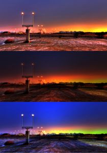 Collage; Landing lights by iskaksen