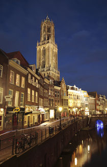 Utrecht Cathedral at Night, Utrecht, Netherlands von Neil Overy