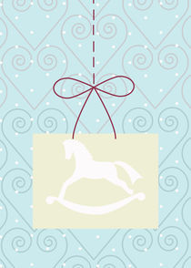 christmas swirl and horse by thomasdesign