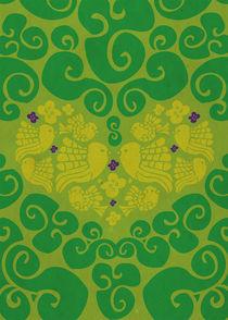 Love Birds in green von Ivancka Kroell