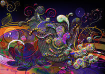 Funny Swirls Abstract Modern Art by Blake Robson