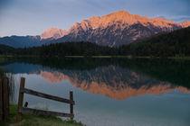 Alpenglühen über Mittenwald by Thomas Mertens