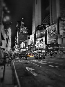 Times Square at night, Manhattan, New York City - with Yellow Cab. by Stacey Duncan